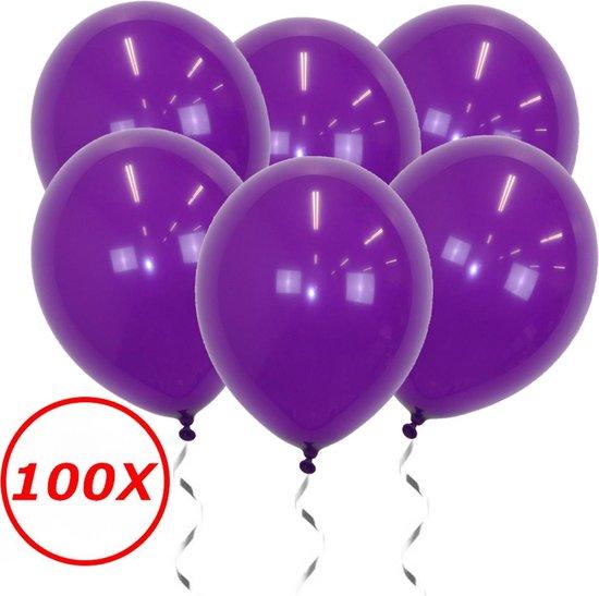 Paarse Ballonnen Verjaardag Versiering  Paarse Helium Ballonnen Feest Versiering Halloween Paars 100 Stuks