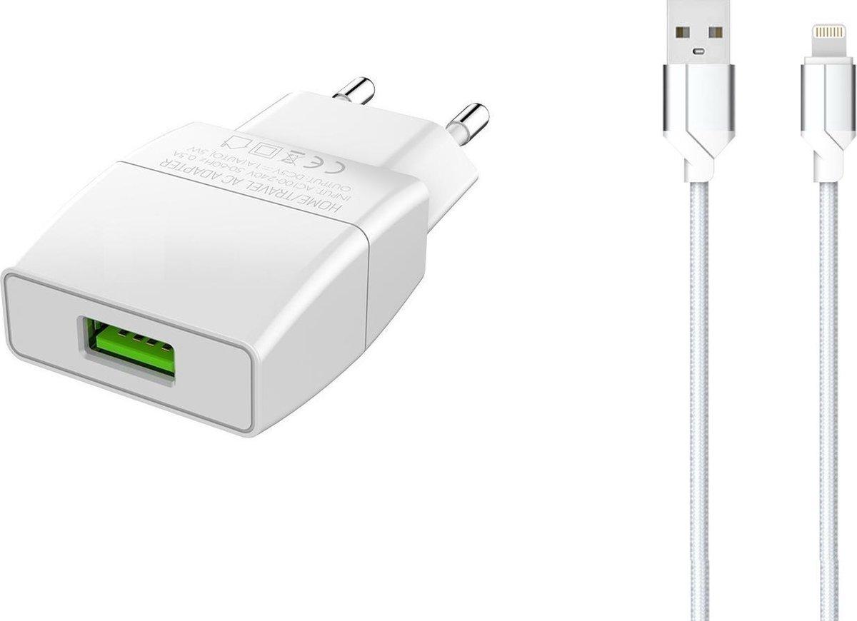 iPhone oplader met kabel geschikt voor Apple iPhone 6,7,8,X,XS,XR,11,12,Mini,Pro Max - iPhone kabel - iPhone oplaadkabel - iPhone snoertje - iPhone lader