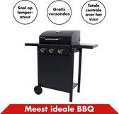 Luxe Gasbarbecue van In Round - Buitenkeuken - Barbeque - Gas Barbecues - Met Zwevende Grill en Contact Grill