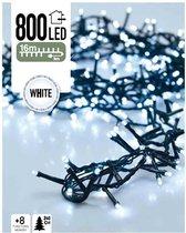 DecorativeLighting Kerstlampjes - wit (koel) - 16 meter - microcluster met 800 LED-lampjes