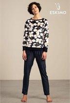 Eskimo pyjama dames - blauw - Feline - maat XL