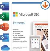 Microsoft 365 Personal - 1 jaar abonnement (doosje)