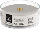 2 stuks WoodWick Warm Wool Petite Candle