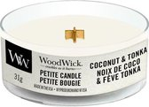 2 stuks WoodWick Coconut & Tonka Petite Candle