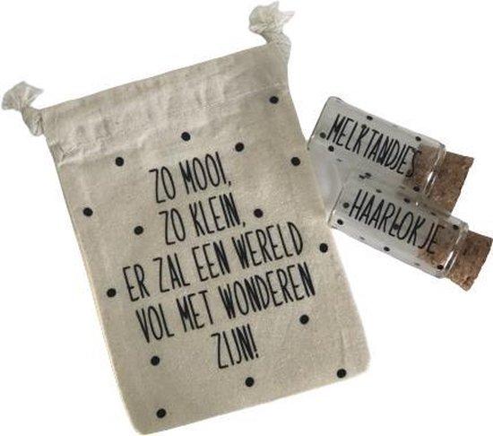Chiara Design Tandendoosje - Melktandjes en haarlokjes buisje - Tandendoosje jongens - Tandendoosje meisjes - Melktanden bewaardoosjes - Herinneringsdoos - Baby memory box