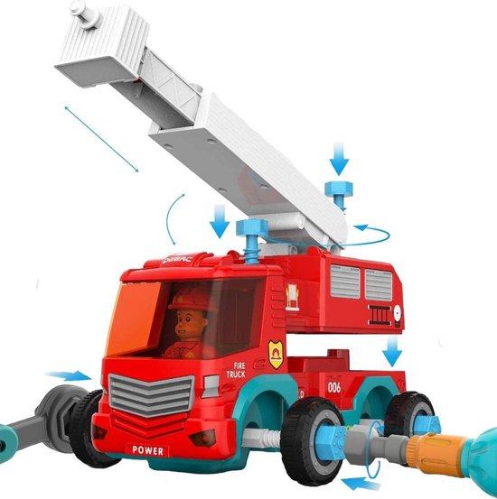 Assembly City Brandweerauto - Monteerbare Brandweerwagen - RC Auto - Montessori - Educatief Speelgoed