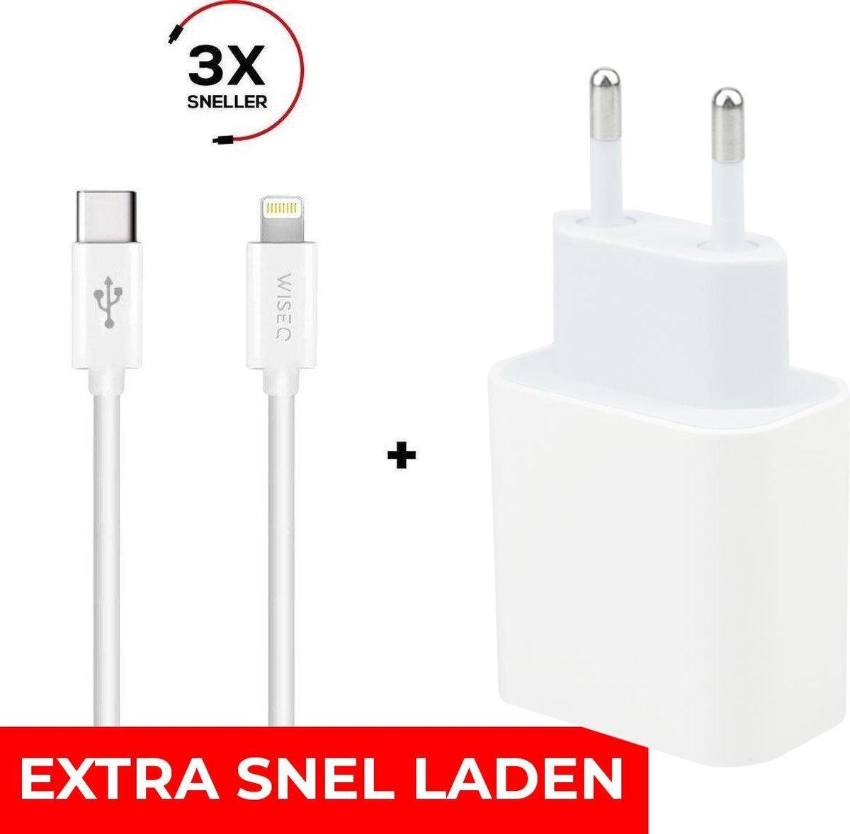 iPhone Oplader - 20W Snellader - Inclusief 2 METER Lightning kabel - Wit
