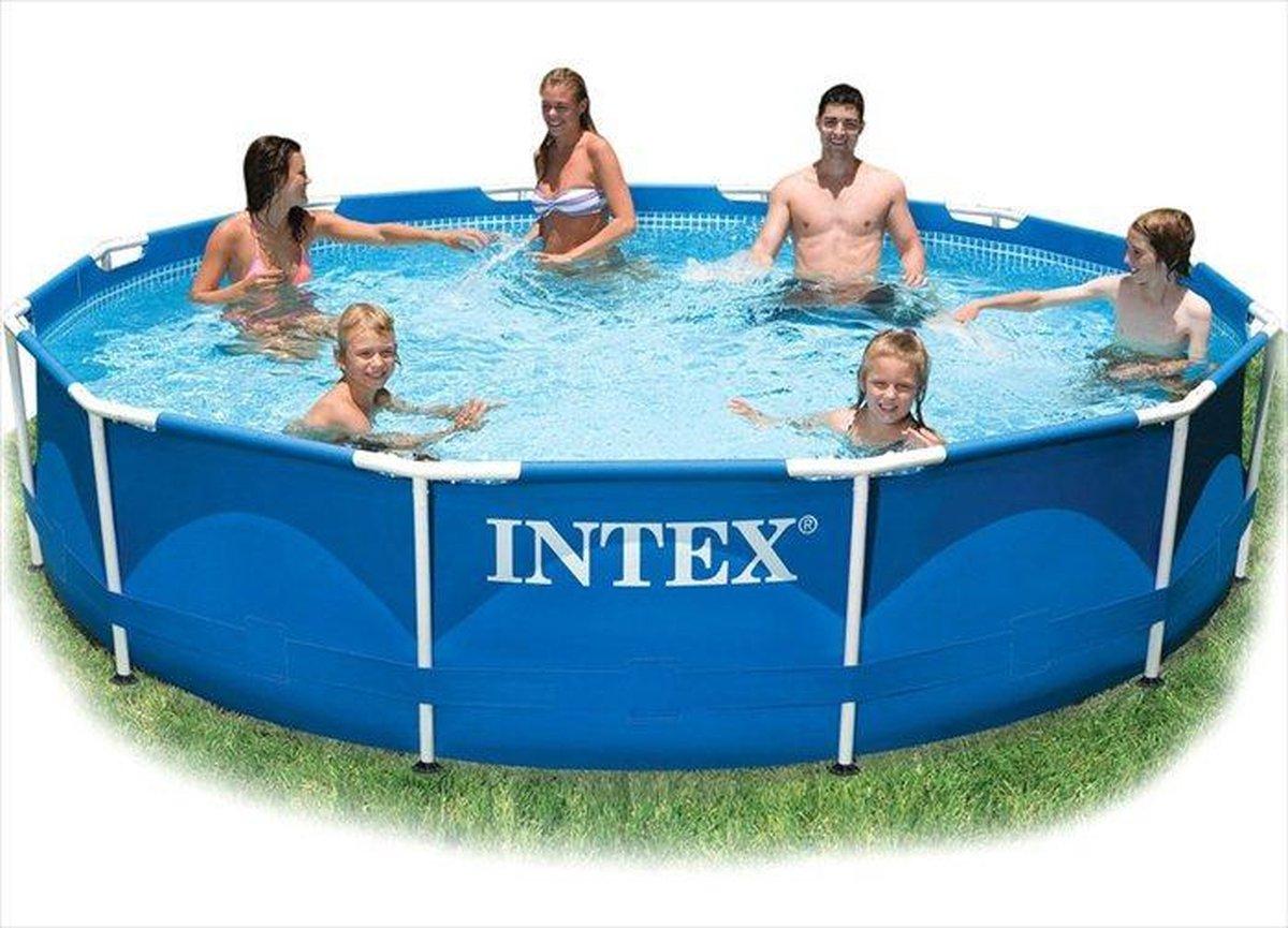 Intex Metal Frame zwembad 366 x 76 cm-Zonder filterpomp