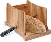Jooba® broodsnijder – Brood snijder hulpmiddel – Broodplank hout – hulpmiddel brood snijden – Broodsnijplank – Rechte plakken – Bamboe – Vers brood – Zelf broodbakken