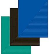 Kangaro Schriften A4 Gelinieerd 29 Cm Zwart/blauw/groen 5 Stuks