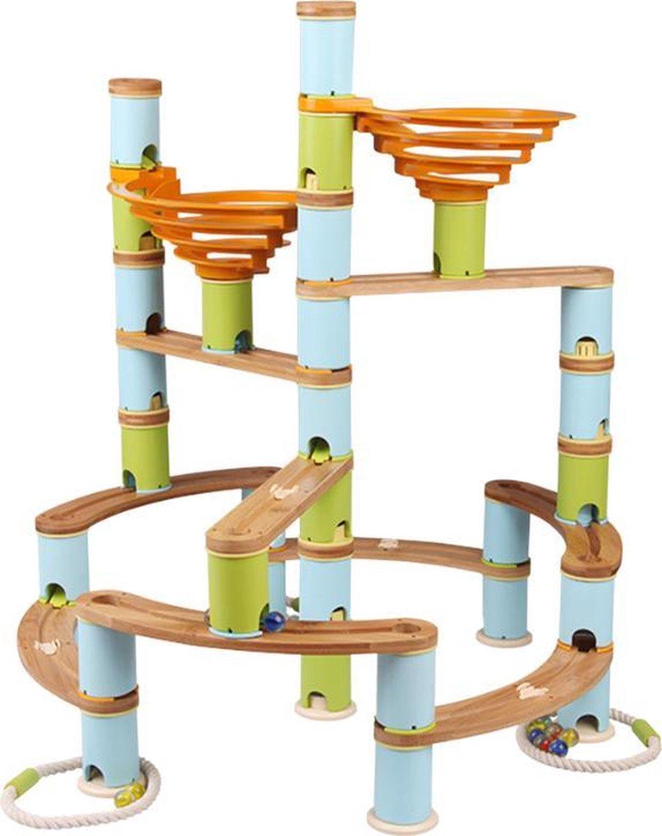 LOEF - educatieve knikkerbaan - duurzaam speelgoed - bamboe - Jumbo kit - marble mania