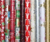 Präsenta - Luxe Kerstpapier - Inpakpapier - Cadeaupapier - 200 x 70 cm - 5 rollen