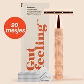 Safety Razor +20 gratis scheermesjes - Rose gold Double Edge- Single Blade Scheermes Voor Vrouwen - Dubbelzijdig Scheermes Voor Venus - Oksels - Benen