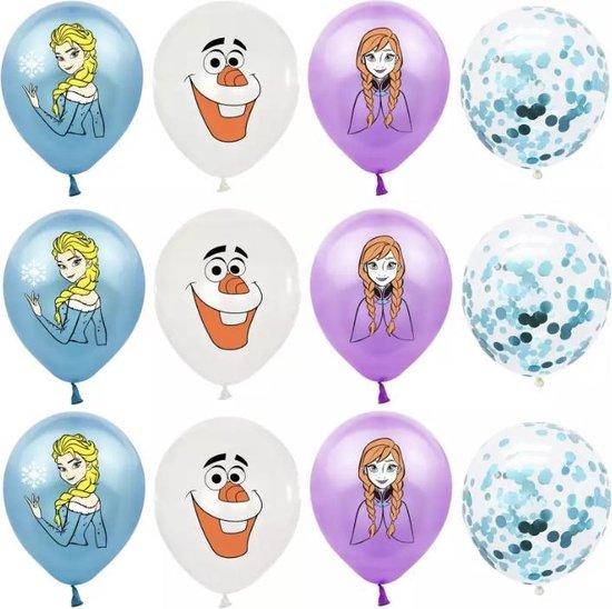 Frozen ballonnen 12 stuks, frozen Olaf, Anna, Elsa