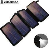 Krachtigste zonnepaneel 25.000mAh met snellaadfunctie en usb-aansluiting voor telefoon inclusief computerbril /  draagbaar zonnepaneel / opvouwbaar / powerbank / iphone / ipad / tablet / solar panel / zonnepaneel usb / met zaklamp