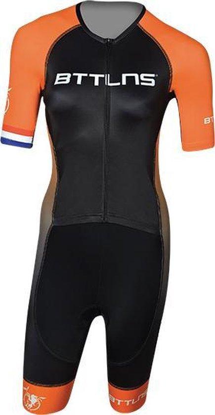 BTTLNS Typhon 2.0 trisuit korte mouwen zwart/oranje dames M