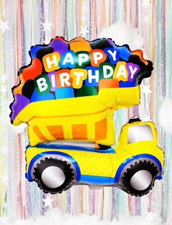 vrachtwagenvormige verjaardagsballonset   71x49 cm - Folie ballon - Helium - Leeg - Auto - Auto ballon - vrachtwagen - Versiering - Leeg - Verjaardag - Ballonnen - Thema feest - Truck - Car