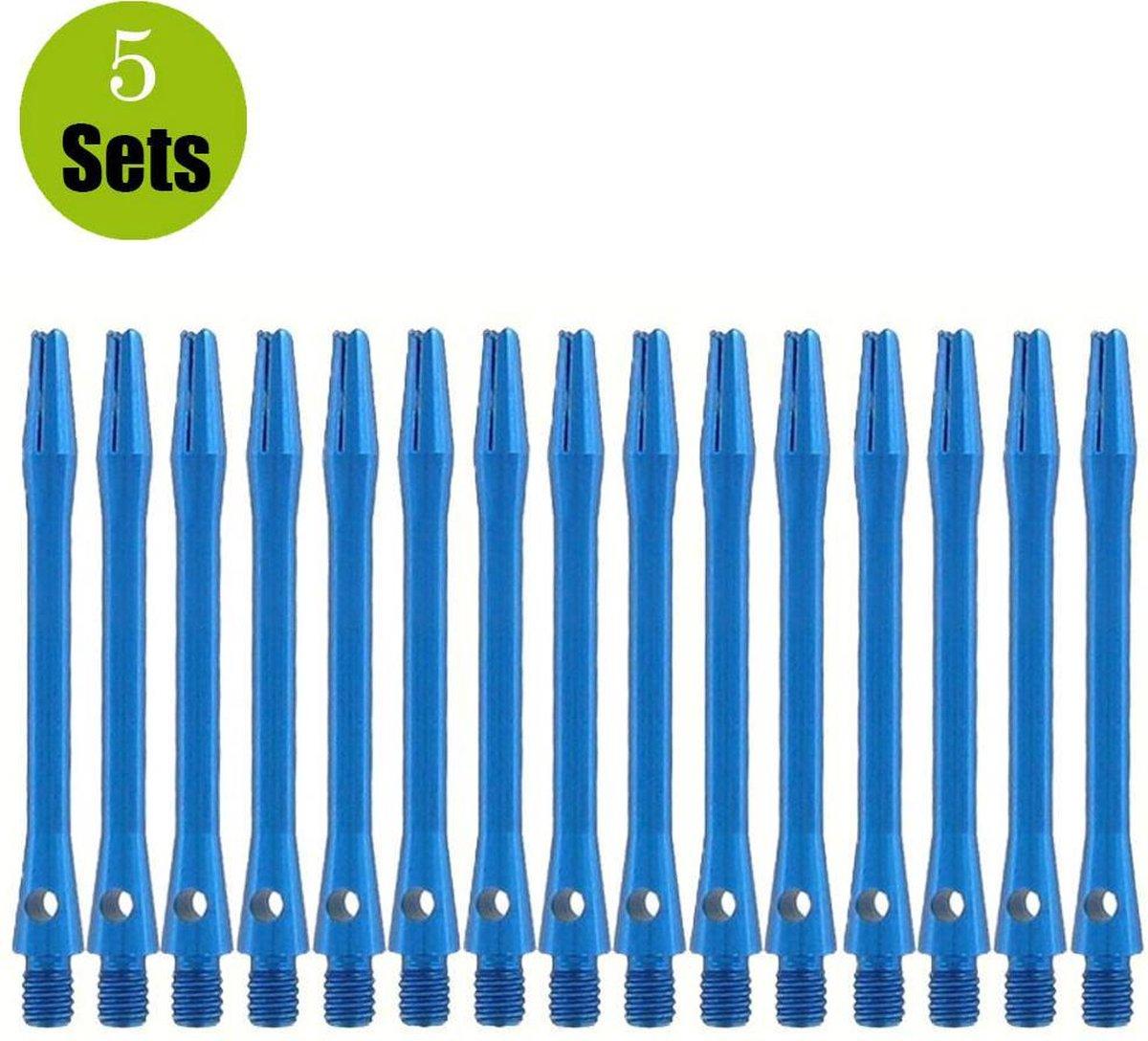Bulls Aluminium 5sets DartShafts - Blauw - Medium - (5 Sets)