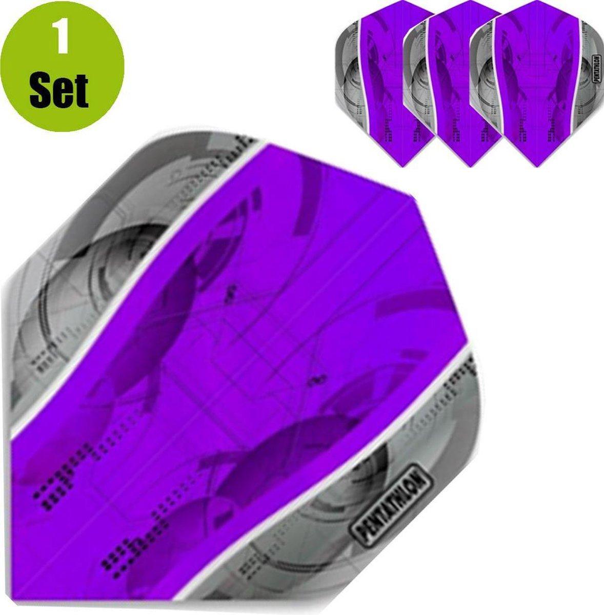 Pentathlon Silver Edge Dartflights - Paars- ()