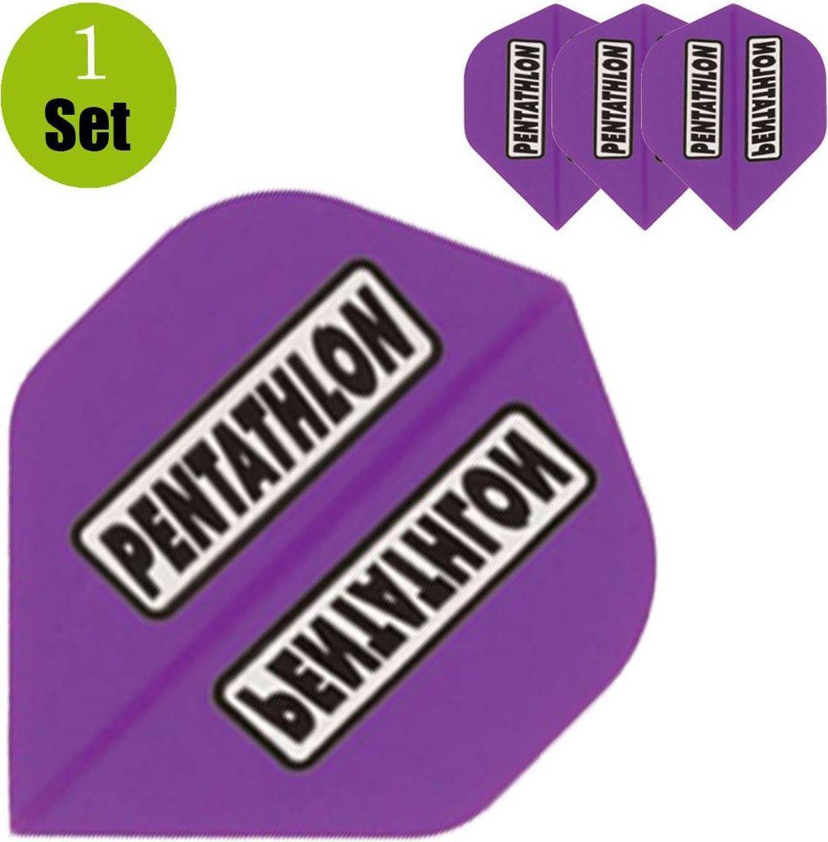 Pentathlon Dartflights - Paars- ()