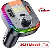 Bluetooth FM Transmitter - Autolader - Bluetooth Carkit - Handsfree Bellen - Nieuw Model 2021 - USB quick charge 3.0 en Bluetooth 5.0 - USB A & USB C - Snellader