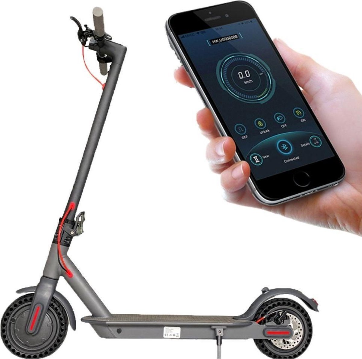 NiftyNeeds E-Scooter-Elektrische Step- Elektrische Step voor Volwassenen en Kinderen Bedienen met smartphone Anti-lek banden online kopen