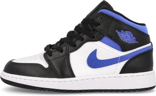 Nike Air Jordan 1 Mid (GS), White/Racer Blue-Black, 554725-140, EUR 38.5