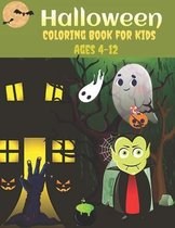 Halloween Coloring Book for Kids Ages 4-12