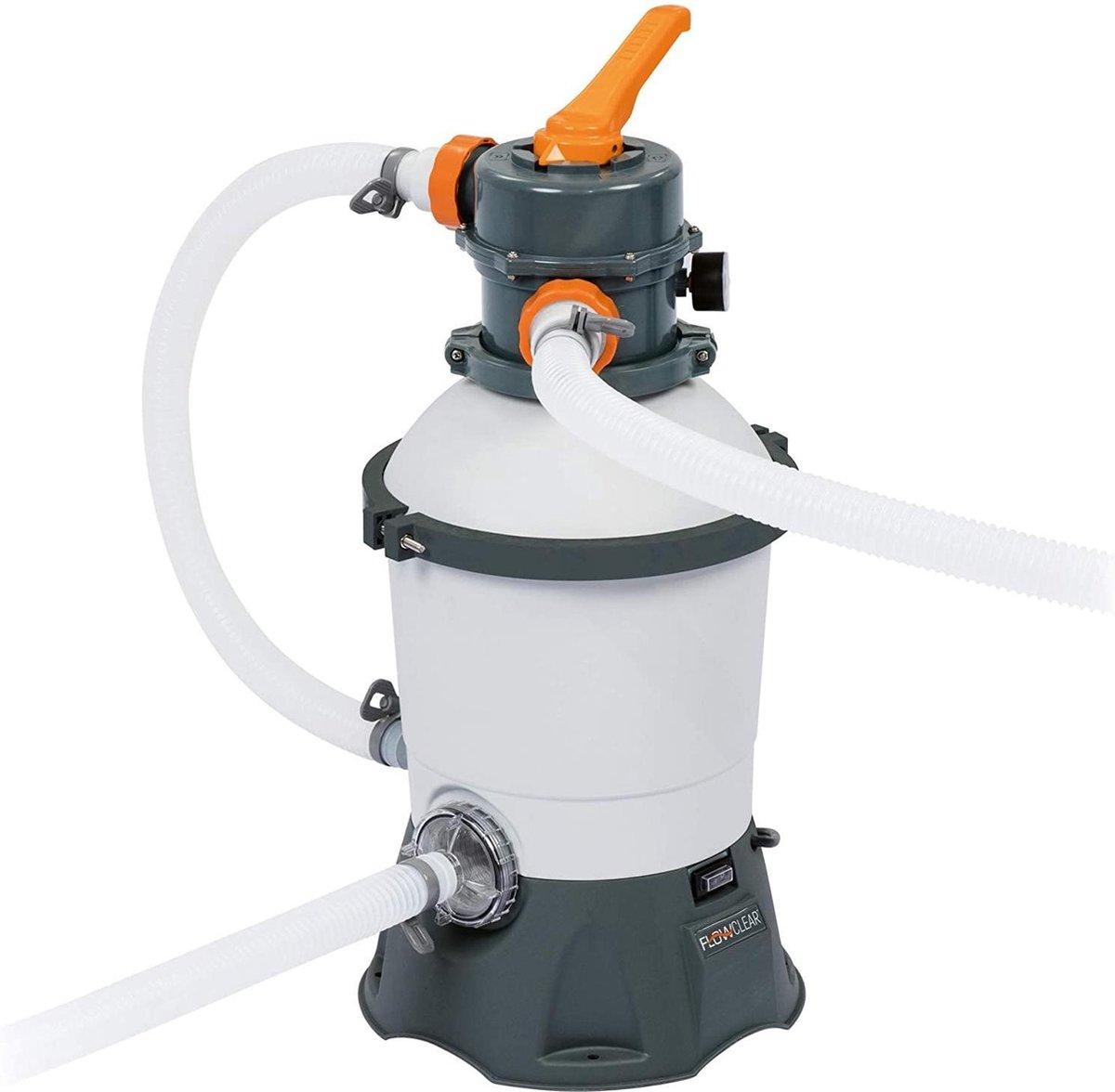 zwembad filter -sellnet bestway flowclear 58515 zandfilterpomp zwembad schoonmaak 3.028 l / h - (WK 02123)