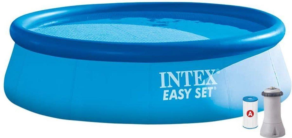 |zwembad| opzet bad|zwembad met filterpomp|Intex Opbouwzwembad Easy Set Pools®, blauw, Ø 366 x 76 cm