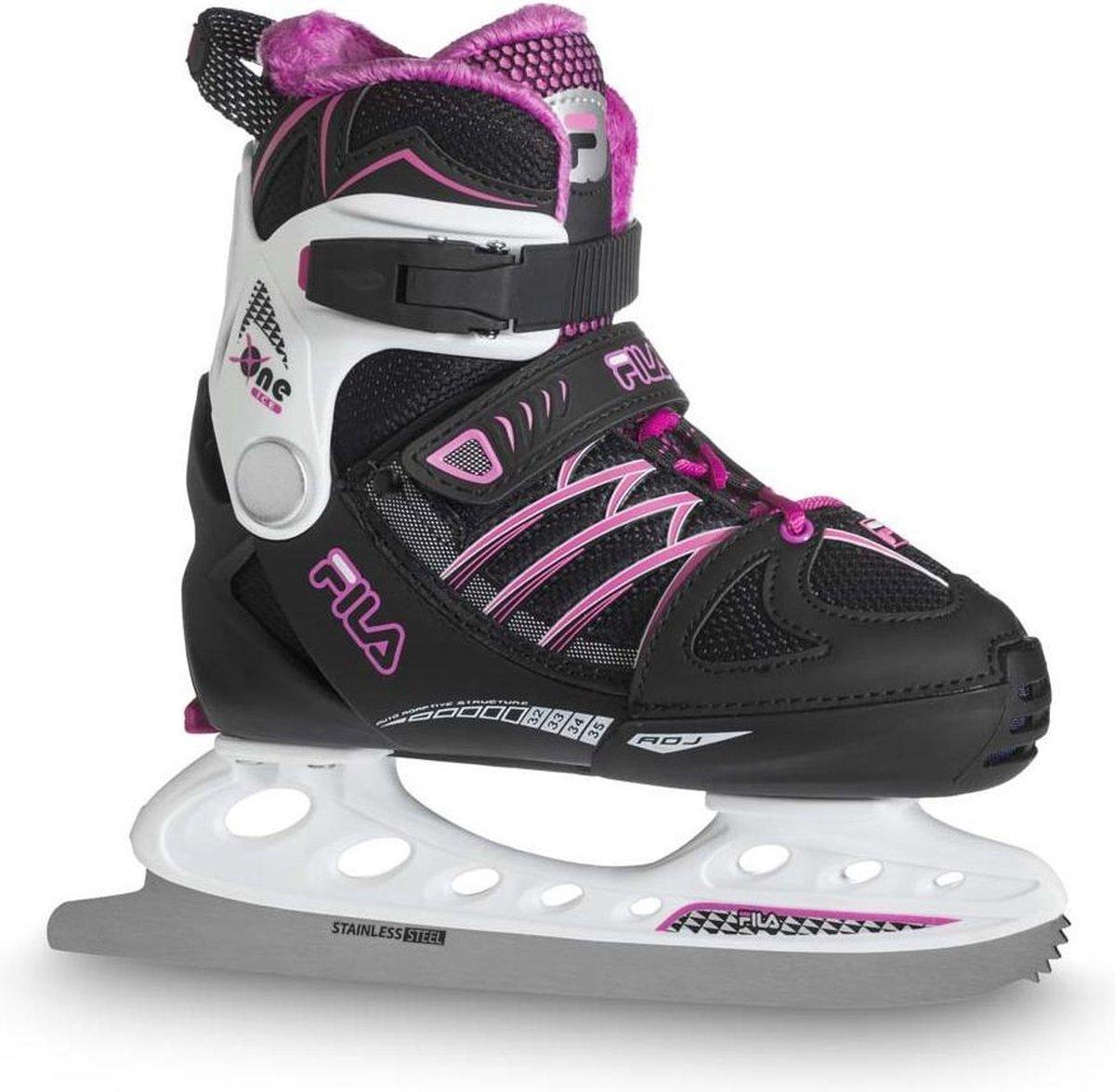 Fila Ijshockeyschaatsen X One Ice Meisjes Rvs/polyester Zwart Mt 29-32