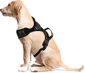 ACE Pets® Anti Trek Tuig Hond - Reflecterend Hondentuigje Hond Large – Gentle Leader Hond – Hondenharnas & Easy Walk Hondentuig – Y Tuig Hond - Maat M - Grijs   Zwart