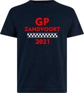 T-shirt navy blauw/rood GP Zandvoort 2021   race supporter fan shirt   Grand Prix circuit Zandvoort   Formule 1 fan   Max Verstappen / Red Bull racing supporter   racing souvenir   maat L