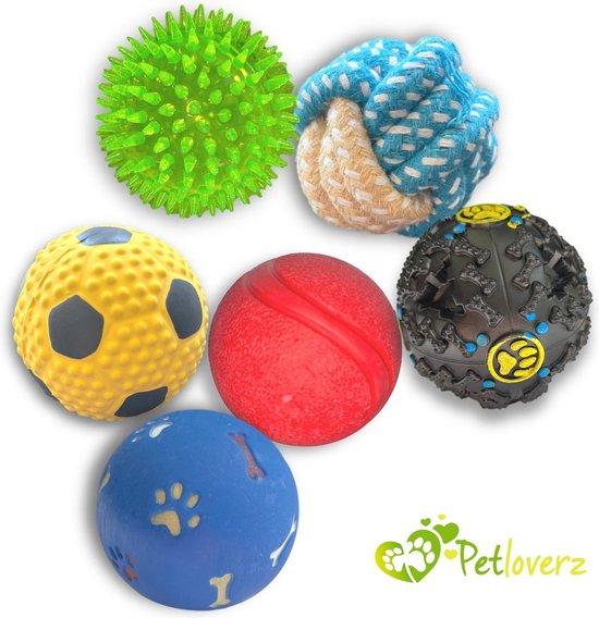 Petloverz Ballen set - Honden Speelgoed - Intelligentie - Ballen - 6 Stuks