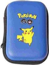 Pokemon kaarten houder - Album hard case capaciteit 50 stuks - Kaarten box Blauw