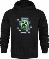 Minecraft Creeper Inside Men's Hoodie - Zwart