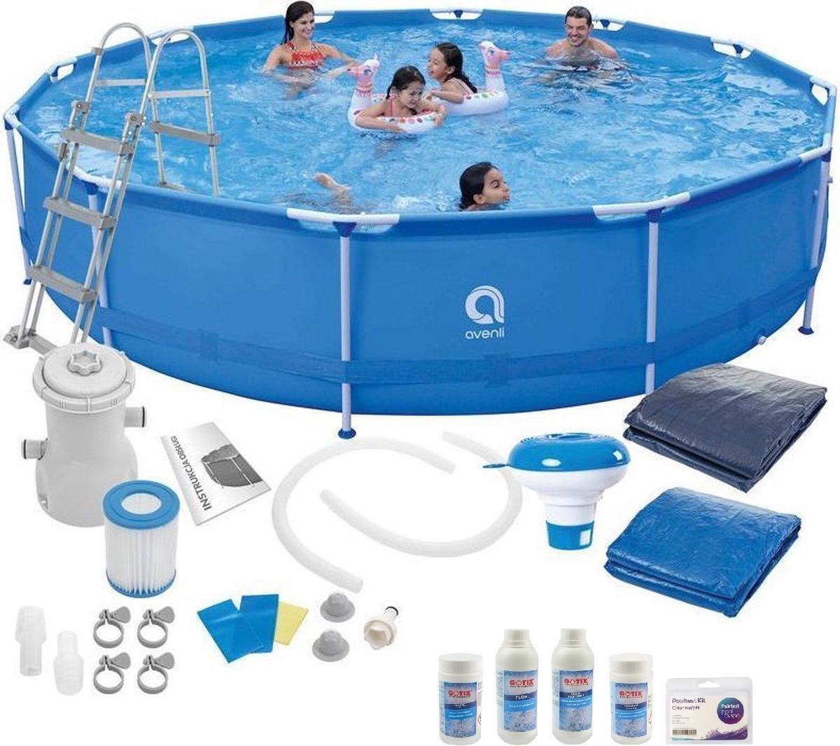 Zwembad met Filterpomp Groot Set 450X90