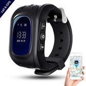 Gps Horloge Kind Tracker - Smartwatch - Kinder Horloge - Waterdicht - Zwart - Wifi en Belfunctie - SOS Functie - Inclusief Simkaart