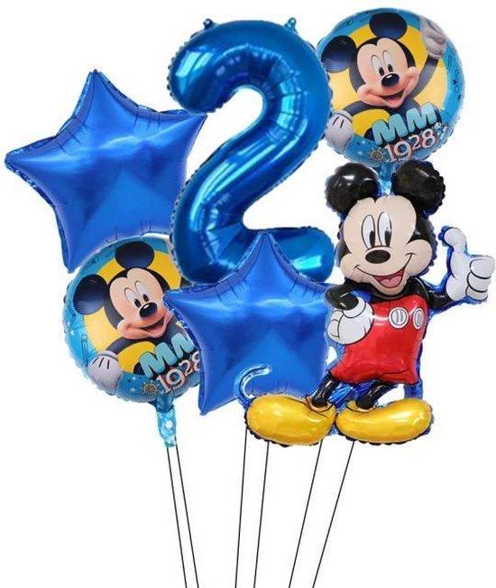 Disney Mickey Minnie Mouse 6 Stuks  Party Ballonnen 32Inch Nummer