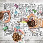 Grote kleur in Poster - Tafelkleed - Speelmat - Thema Boerderij- 1.27m x 0.95m!