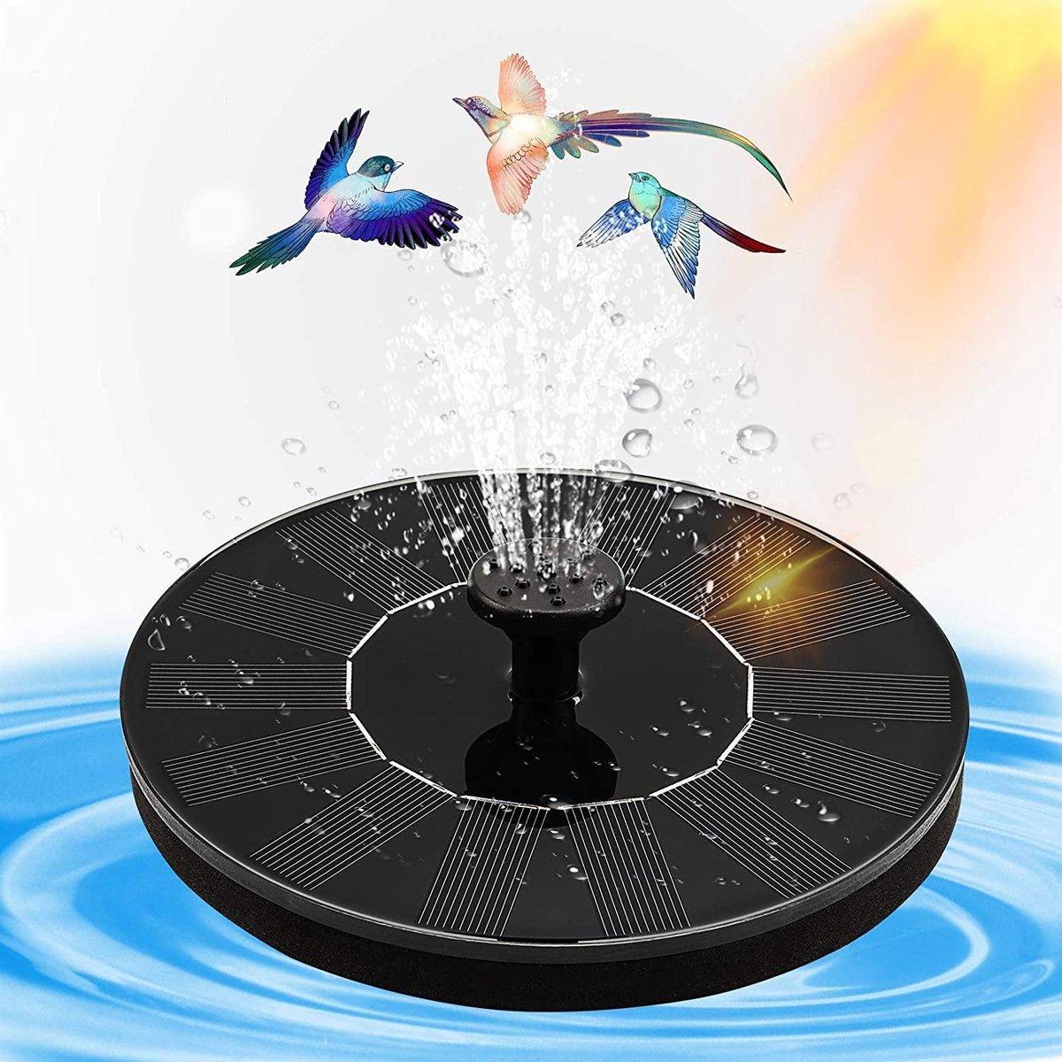 Fontein op zonne energie - Solar fontein - Milieuvriendelijk - Vogelbad