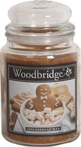 Woodbridge Gingerbread Man 565g Large Candle met 2 lonten