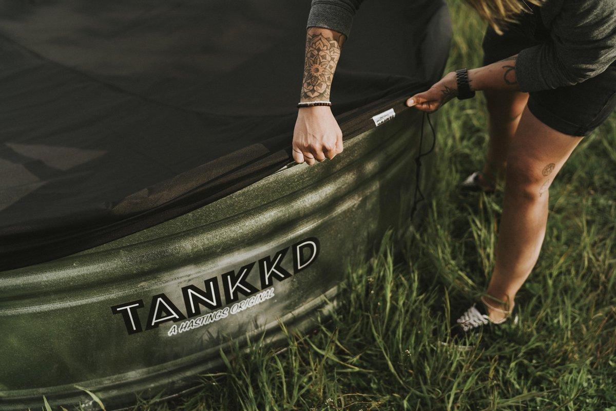 Tankkd stock tank pool cover PU 183cm Ovaal