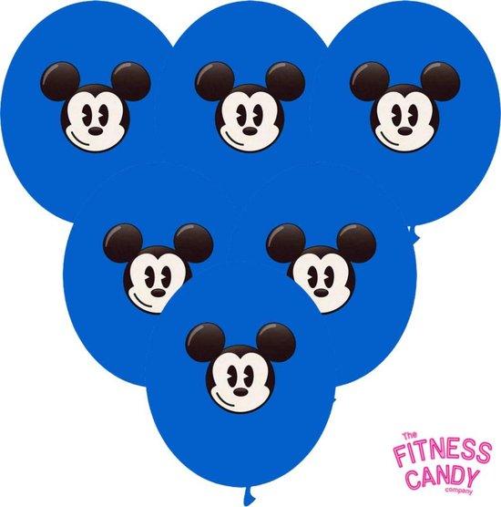 Mickey Mouse Ballonnen Blauw - set van 6