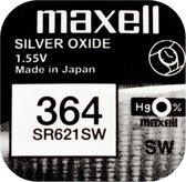 MAXELL 364 / SR621SW zilveroxide knoopcel horlogebatterij 3 (drie) stuks
