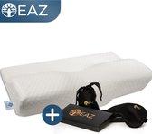 EAZ® Ergonomisch Traagschuim Hoofdkussen - Gratis Slaapmasker - Kussen Slaapkamer - Nekpijn - Orthopedische kussens – Nekklachten