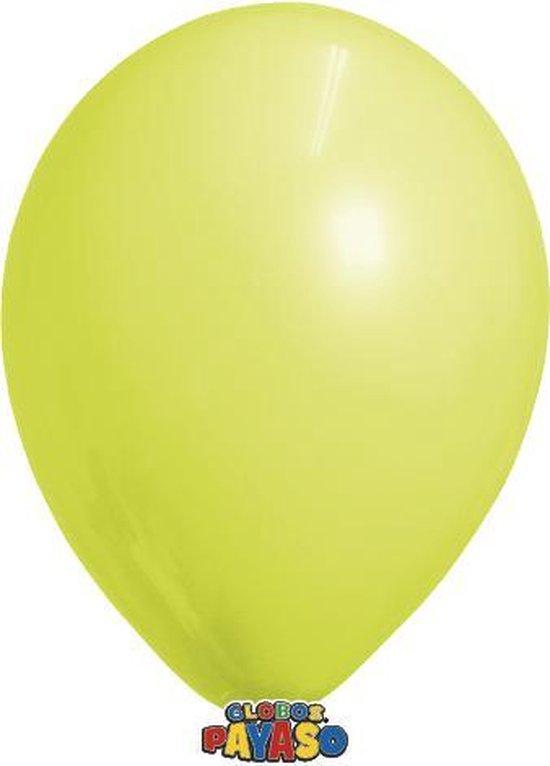 Zakje met 15 gele latex ballonnen - 30cm doorsnee (12 inch) - Biologisch afbreekbaar