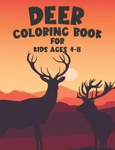 Deer Coloring Book For Kids Ages 4-8