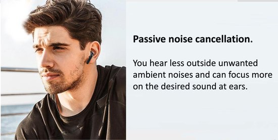 LuxeRoyal - Volledig draadloze oordopjes - draadloze oordopjes - bluetooth oordopjes - wireless earbuds - draadloze oortjes - Zwart