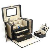 Exclusieve Sieradendoos | Juwelendoos | Sieradenhouder | Juwelen Houder | Juwelenkistje | Sieraden Doos | Sieraden Opbergen | 46 Vakken